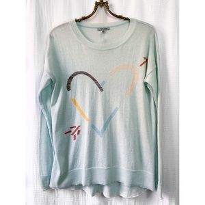Lisa Todd heart crew neck sweater